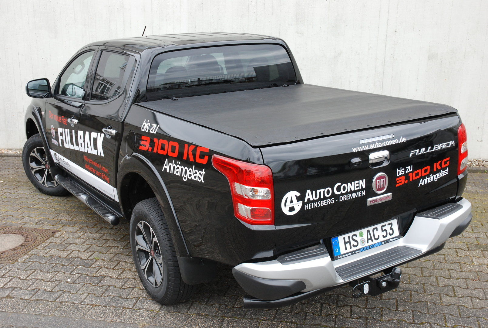 fiat fullback laderaumabdeckung tonneau cover double cab. Black Bedroom Furniture Sets. Home Design Ideas